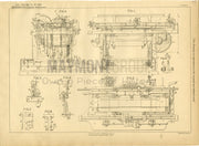 Typewriters Hutchinson Original Patent Lithograph 1888