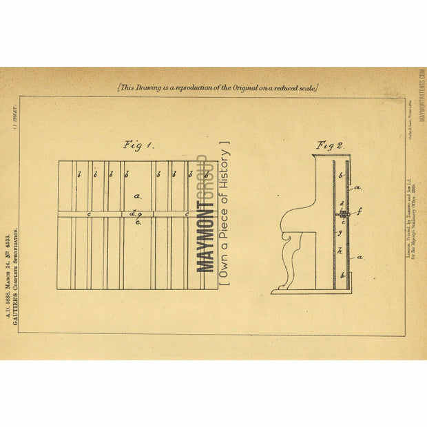 Piano | 1888 | Patent No. 4533-United States Patent Office-Maymont Patent Group
