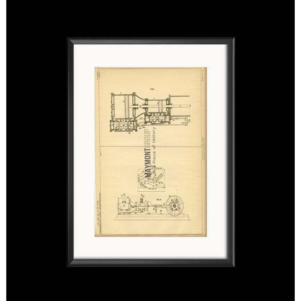 Steam Engine | 1888 | Patent No. 14823-United States Patent Office-Maymont Patent Group