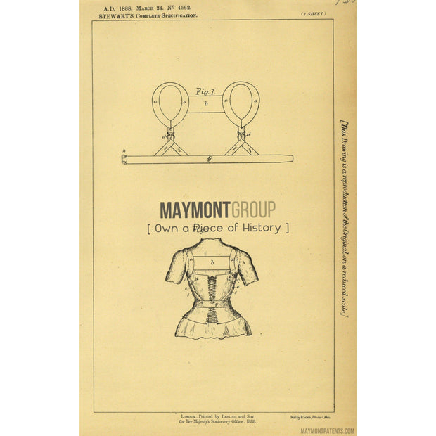 Suspenders | Chest Expanders | 1888 | Patent No. 4562-United States Patent Office-Maymont Patent Group