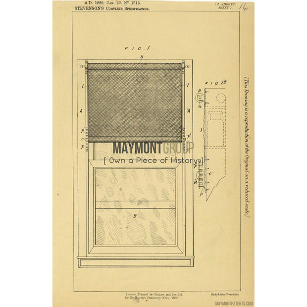 Ventilator | 1889 | Patent No. 1613-United States Patent Office-Maymont Patent Group