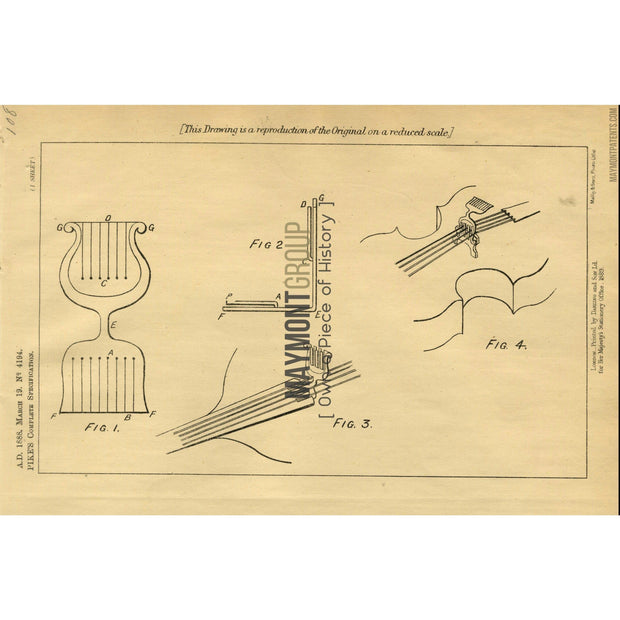 Violin | 1888 | Patent No. 4194-United States Patent Office-Maymont Patent Group