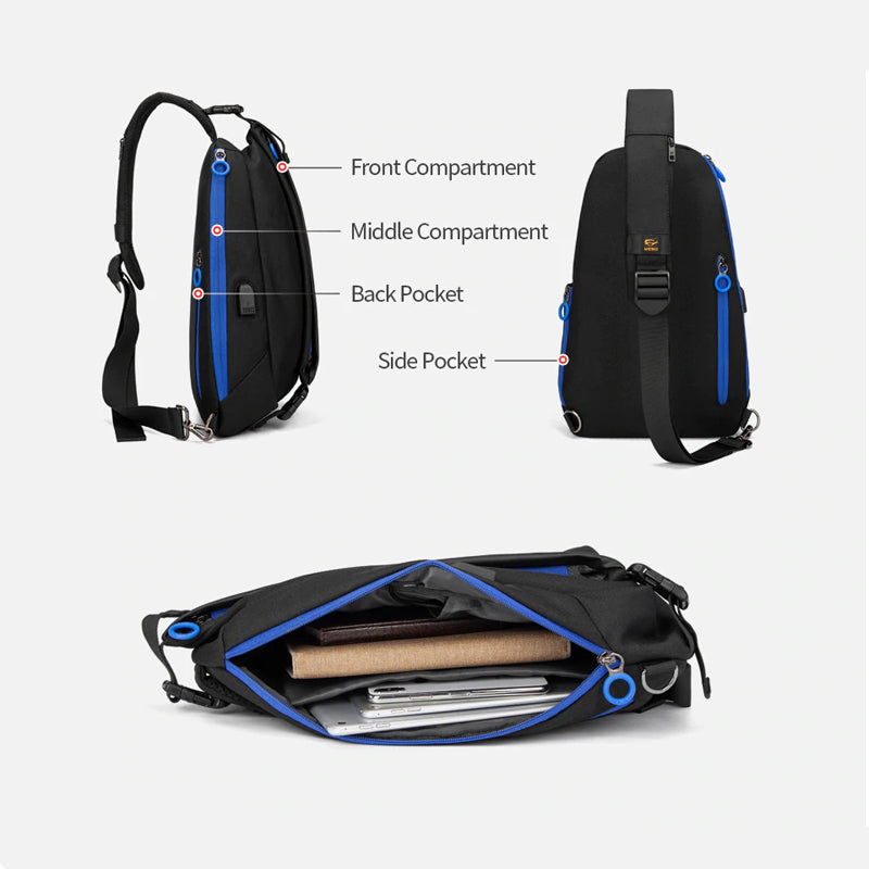 Mens Business, Professional & Travel Crossbody Bag