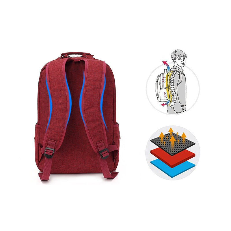 Trendy Multi-Functional Travel Laptop Button Backpack