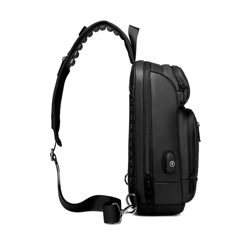 Men's Crossbody Sling Bag Side View