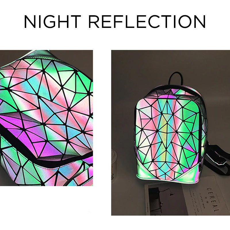 Geometric Luminous Backpack Reflection