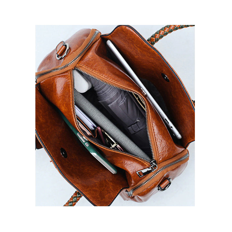 Casual Vintage Leather Women's Shoulder Handbag