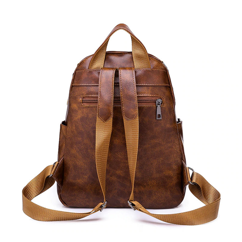 Canvas Leather Bag Back
