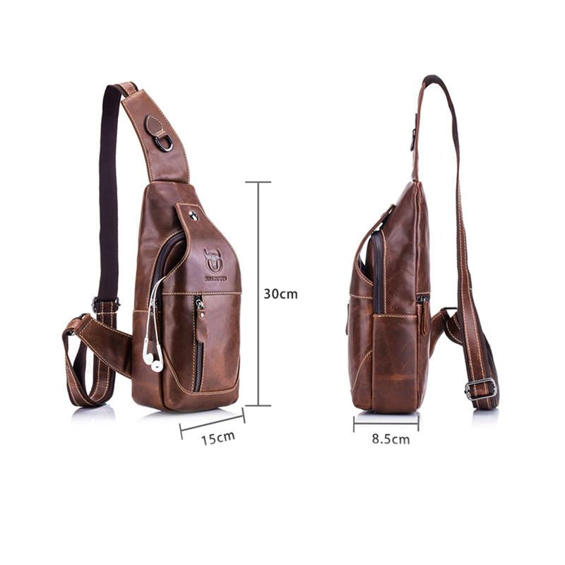 Genuine Leather Crossbody Sling Bag