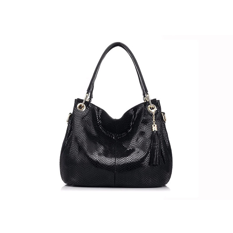 Casual Women's Genuine Leather Shoulder Handbag