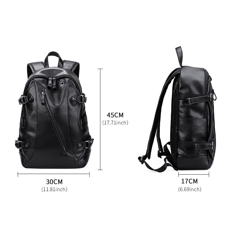 Men's Leather Backpack Dimensions