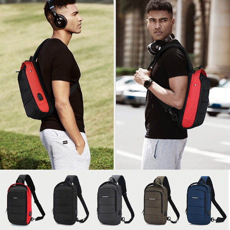 Large Capacity Mens Business & Casual Crossbody Sling Bag