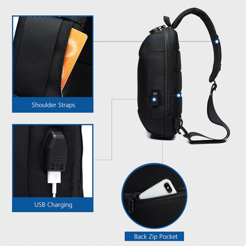 Multi-Functional Men's Travel & Casual Crossbody Bag