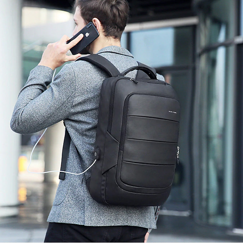 Black Travel Laptop Backpack