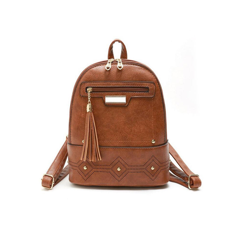 Women's Vintage Style Leather Backpack