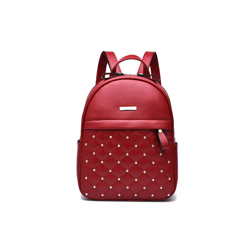 Women's Stylish Quilted Leather Backpack