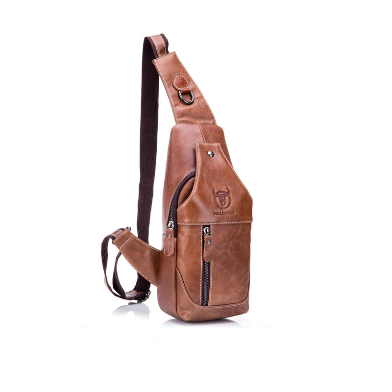 Genuine Leather Mens Crossbody Bag