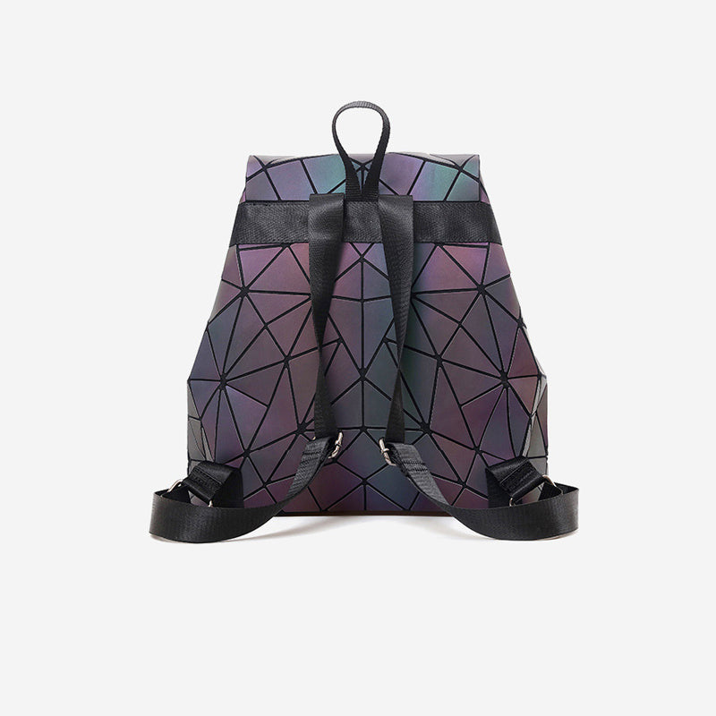Geometric Luminous Mini Travel Backpack