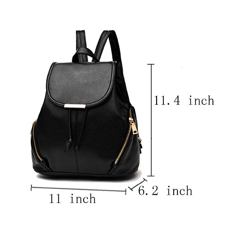 Casual Women's Stylish Vegan Leather Travel Backpack