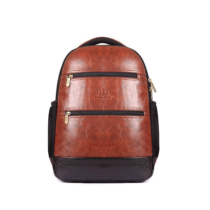 Designer Vegan Leather Business Travel School College Laptop Backpack