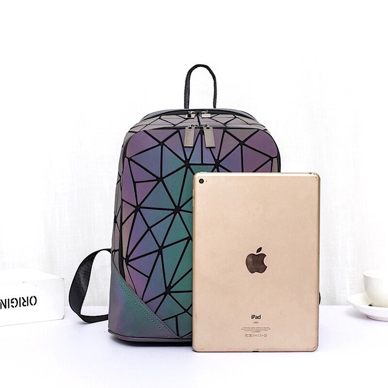 Geometric Luminous Casual Backpack