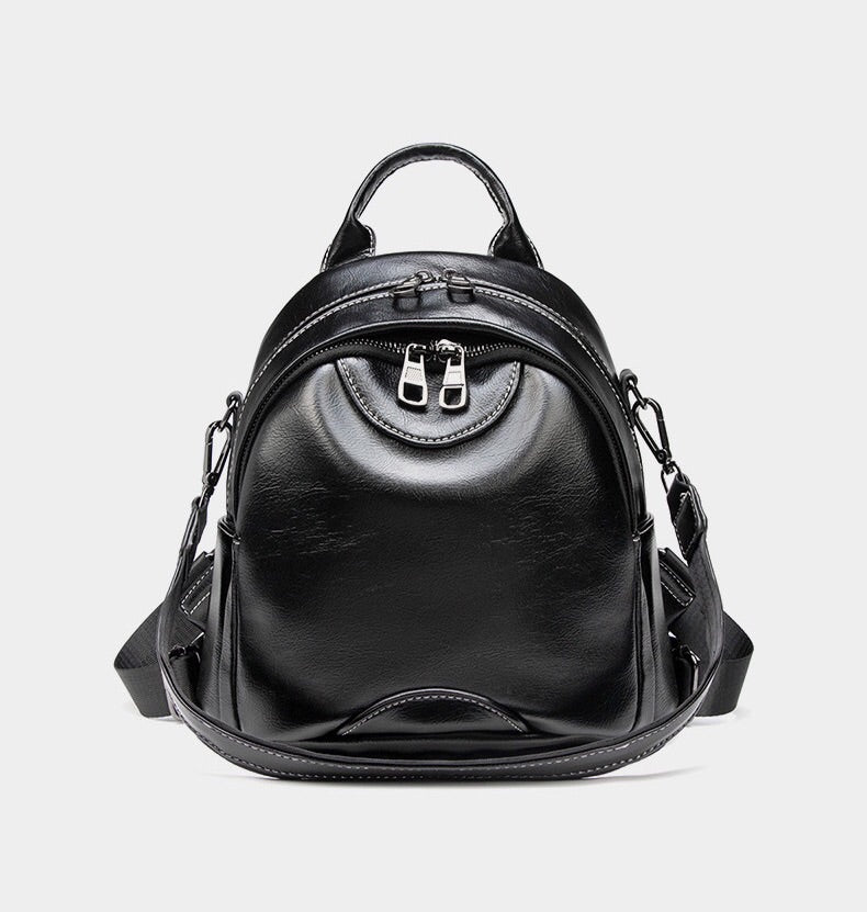 Casual Women's Mini Leather Backpack