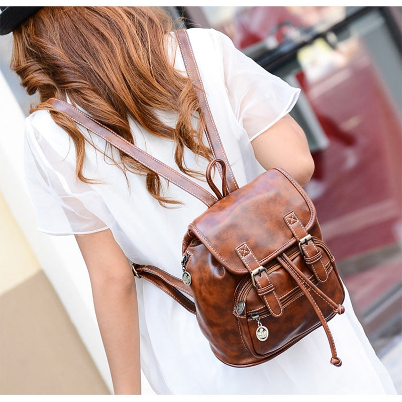 Small Drawstring High Quality Vintage Womens Backpack