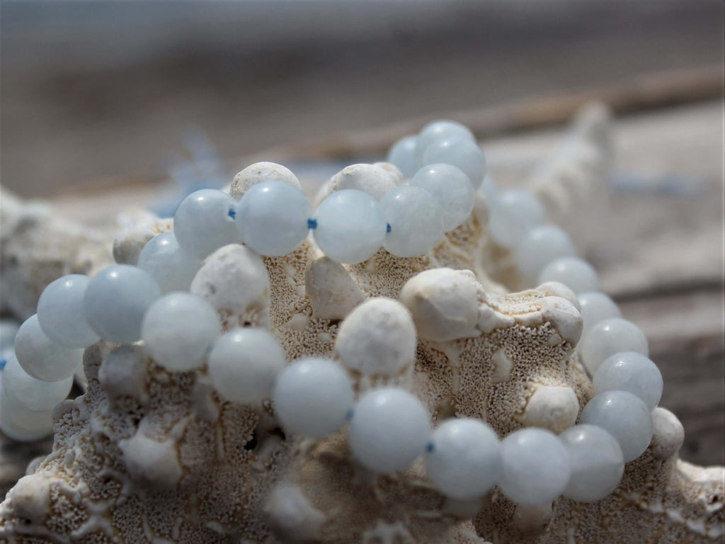 Blue Calcite Stone Mala Beads detoxification