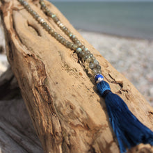 Load image into Gallery viewer, Haven Mala with Lapis Lazuli Guru Bead and tassle