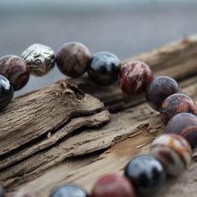 Load image into Gallery viewer, Planetary Traveller crystal wrist mala detail