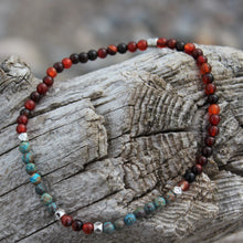 Load image into Gallery viewer, Chrysocolla stone anklet