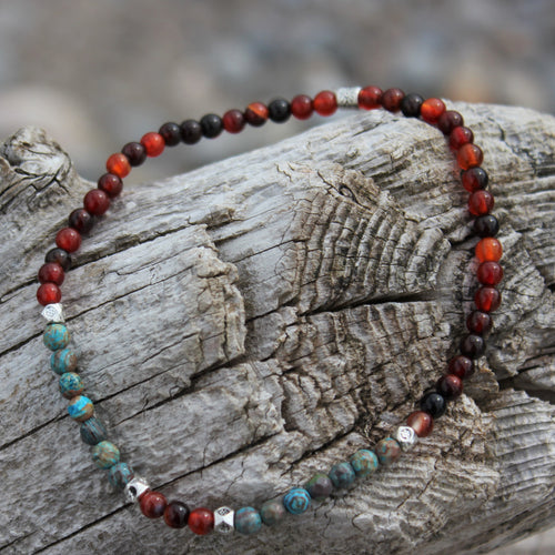 Chrysocolla stone anklet