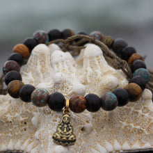 Load image into Gallery viewer, Wrist mala with cobra jasper