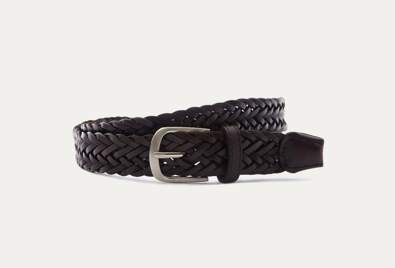 Abbey Braided Leather Belt