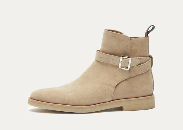 Carl Suede Belted Chelsea Boot