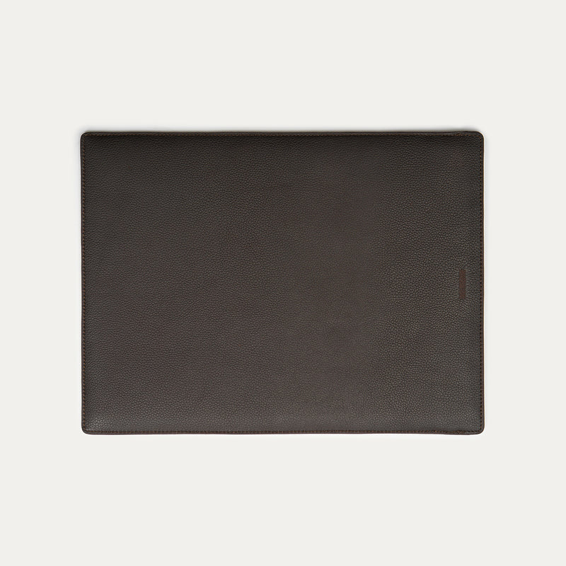 Logo Leather Laptop Sleeve