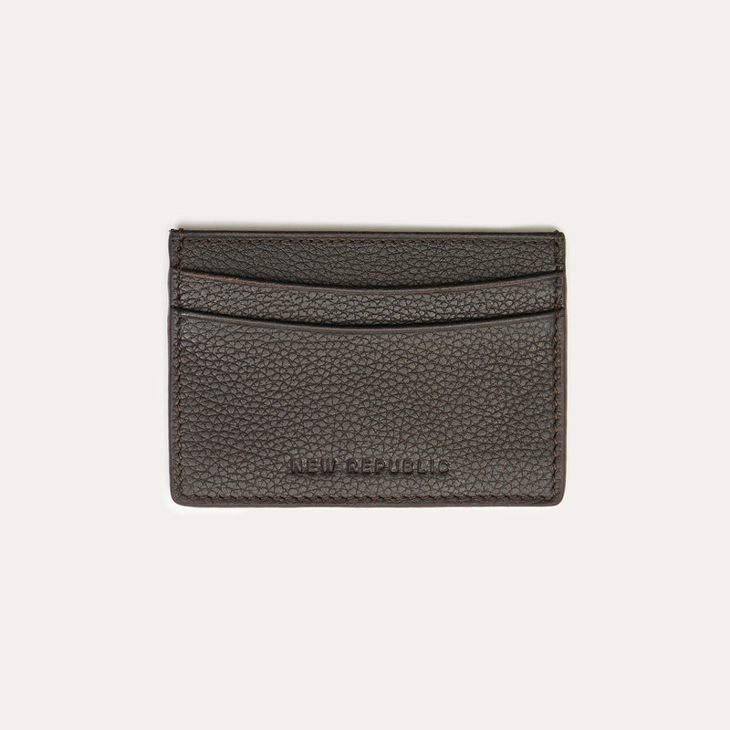 Logo Leather Card Holder