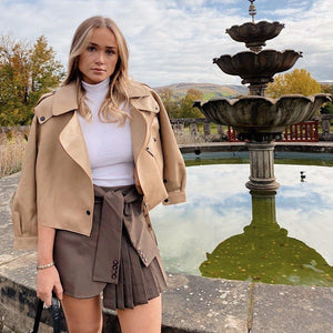 Hazel Leather Jacket Tan