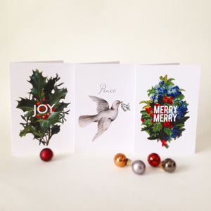 Holiday Greeting Cards - Merry Merry Set of 3