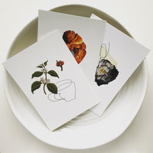 Contour Collage Postcards - Rock Paper Scissors