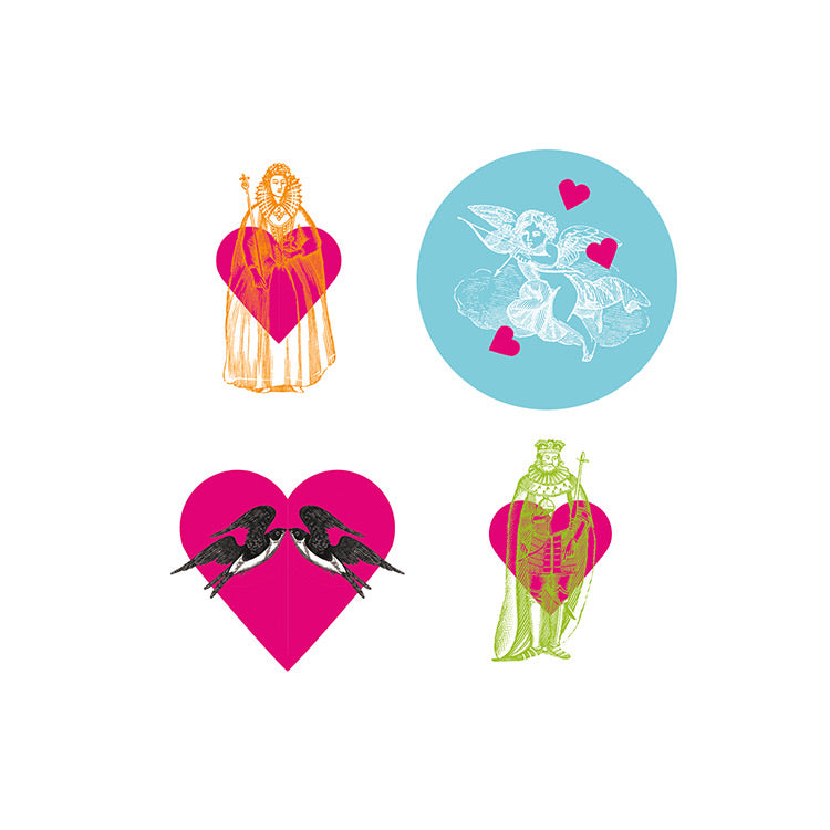 Love - Hearts Sticker Set