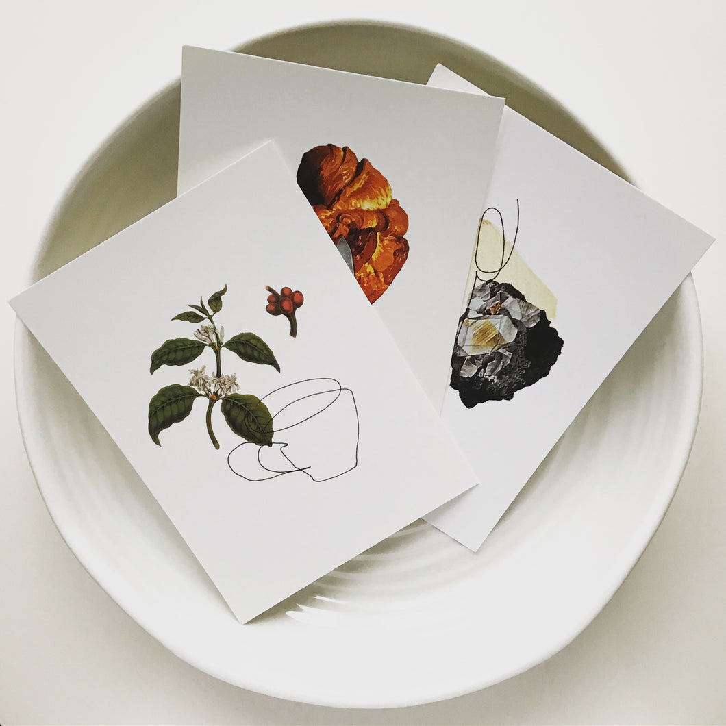Contour Collage Postcards - The Set of Three