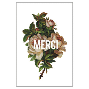 Bouquet - Merci Postcard