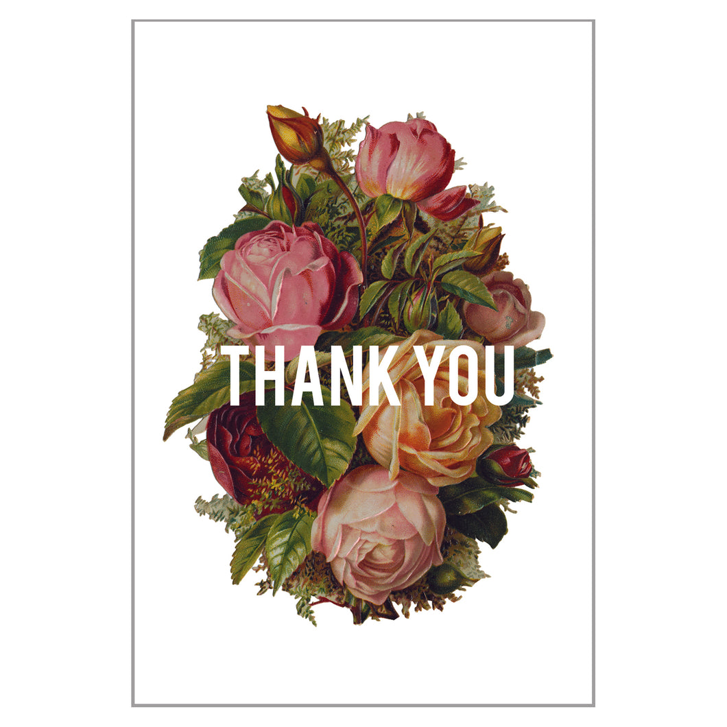 Bouquet - Thank You Postcard