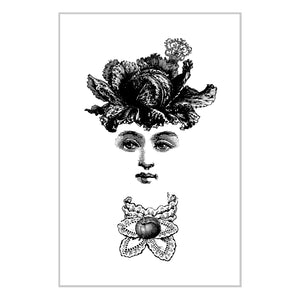 Special Series: Letterpress Print Postcard - Ms. Cabbage
