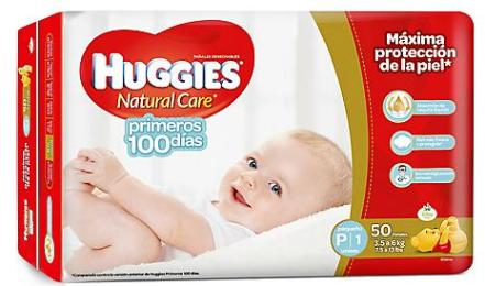 Pañales Huggies Natural Care P - Etapa 1