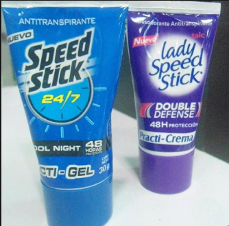 Desodorante Speed Stick Gel y Lady Speed Stick Crema x12