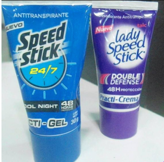 Desodorante Speed Stick Gel y Lady Speed Stick Crema x6