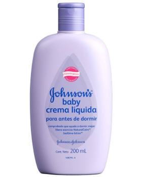 Crema liquida Johnson's morada 200ml