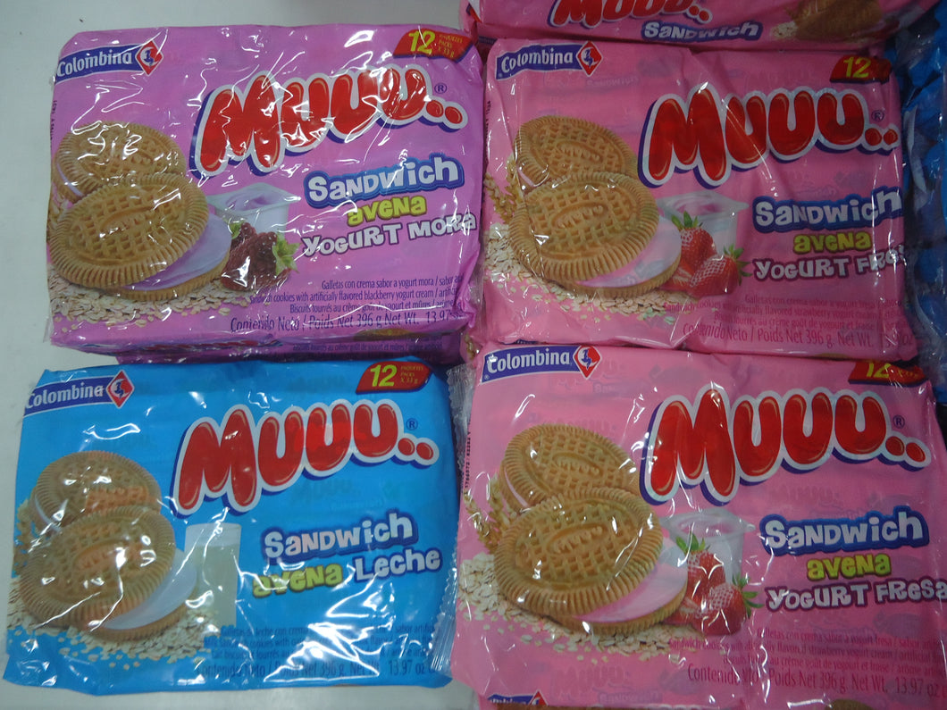 Galletas Muu sandwich 12u